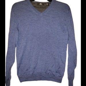 Calvin klein Sweater Men Medium Blue Wool Winter
